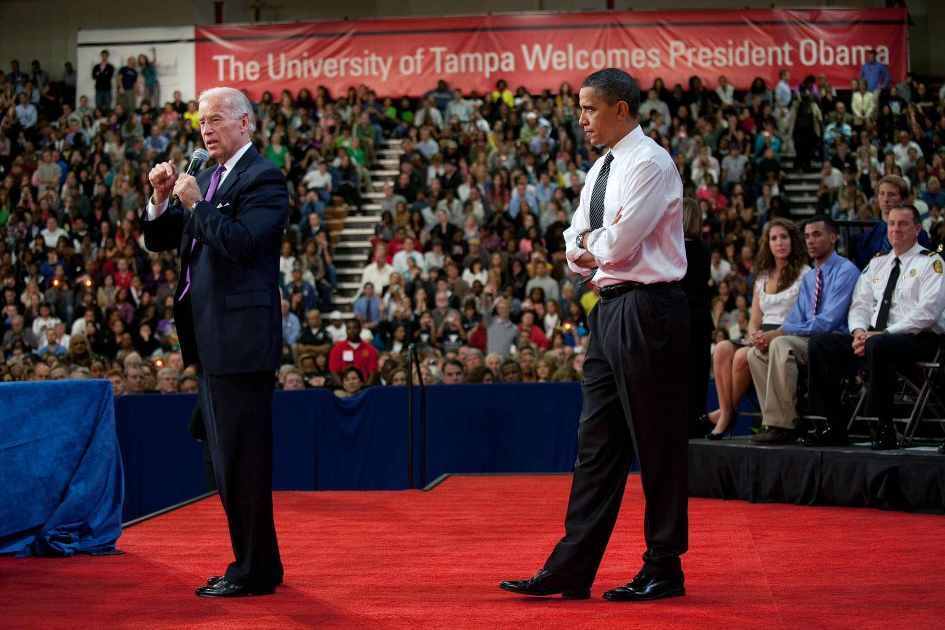 The Vice President Speaks at a Town Hall with the President in Tampa, Florida