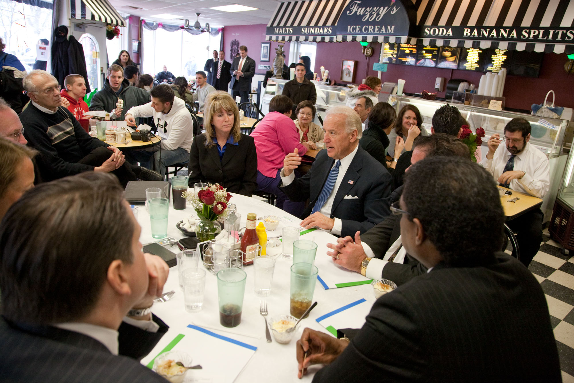 Vice President Biden Has Lunch in Saginaw, Michigan