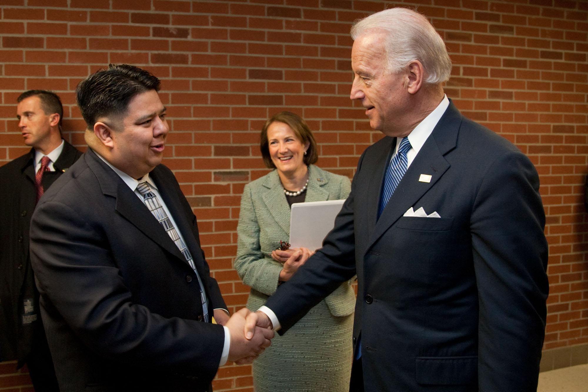 Vice President Biden Shakes Hands in Saginaw, Michigan