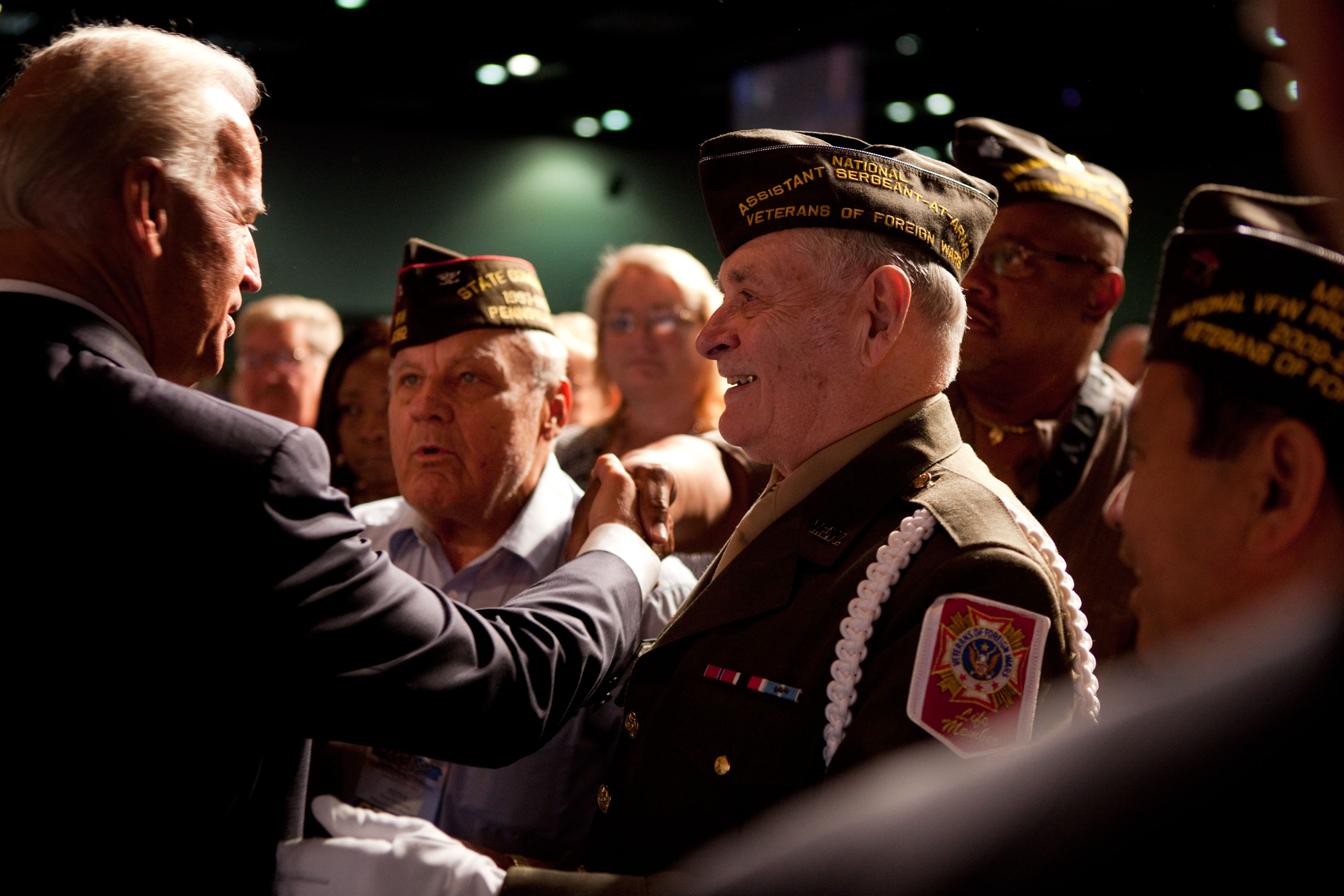 Vice President Joe Biden Shakes Hands at the 111th Veterans of Foreign Wars Convention After Speaking on Iraq