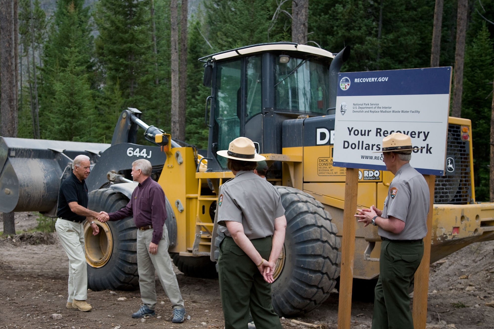 Vice President Biden at Yellowstone National Park