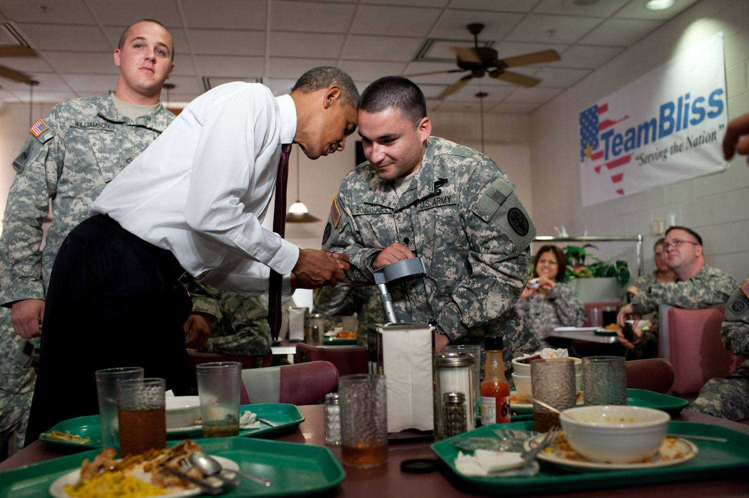 President Barack Obama Greets Members of the Military at Fort Bliss in El Paso, Texas