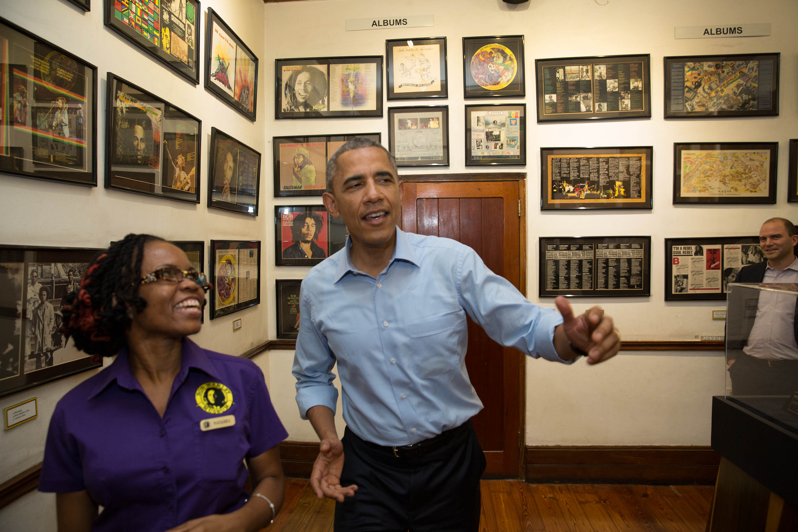President Obama Visits the Bob Marley Museum