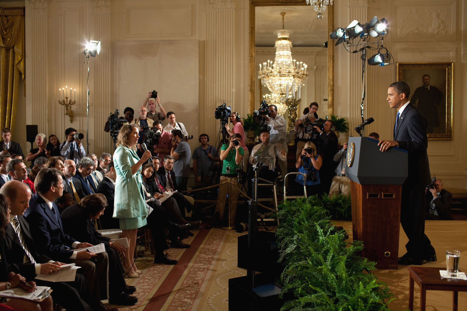 The President Takes a Question on the BP Oil Spill Response
