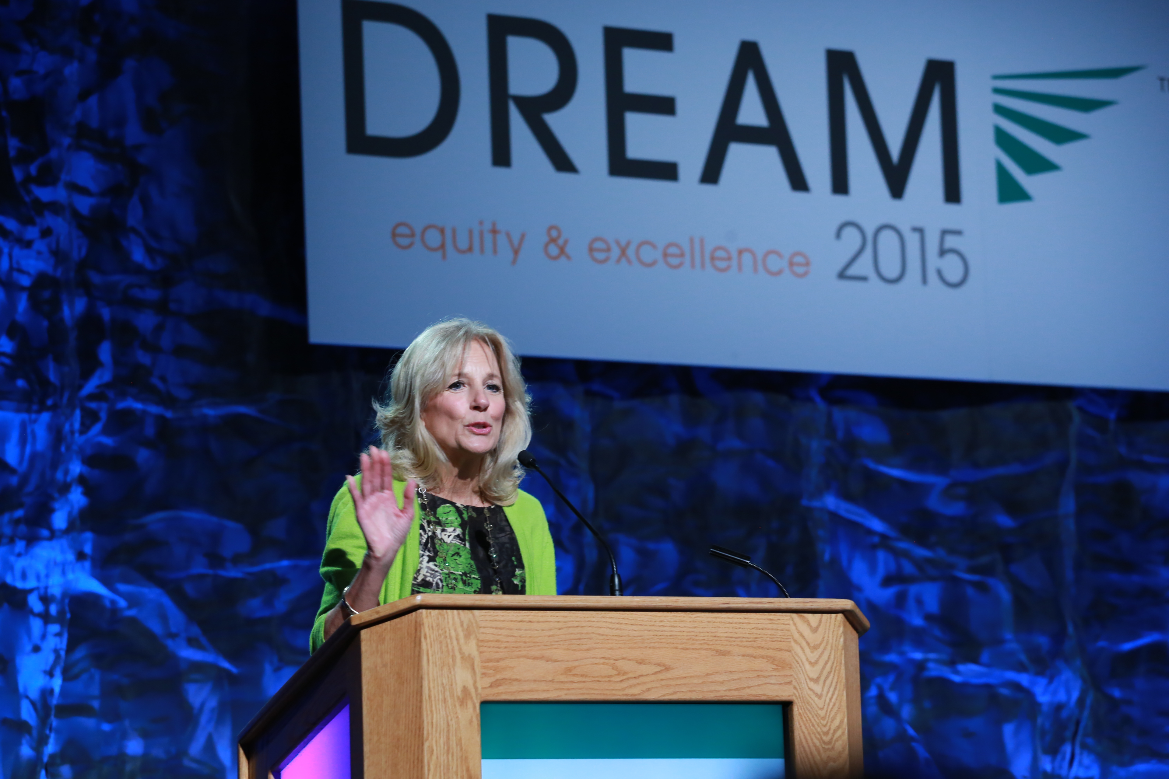 Dr. Jill Biden delivers closing remarks at DREAM 2015