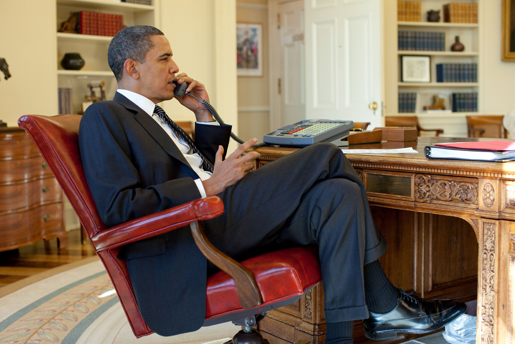 The President on a Call with Haitian President Préval