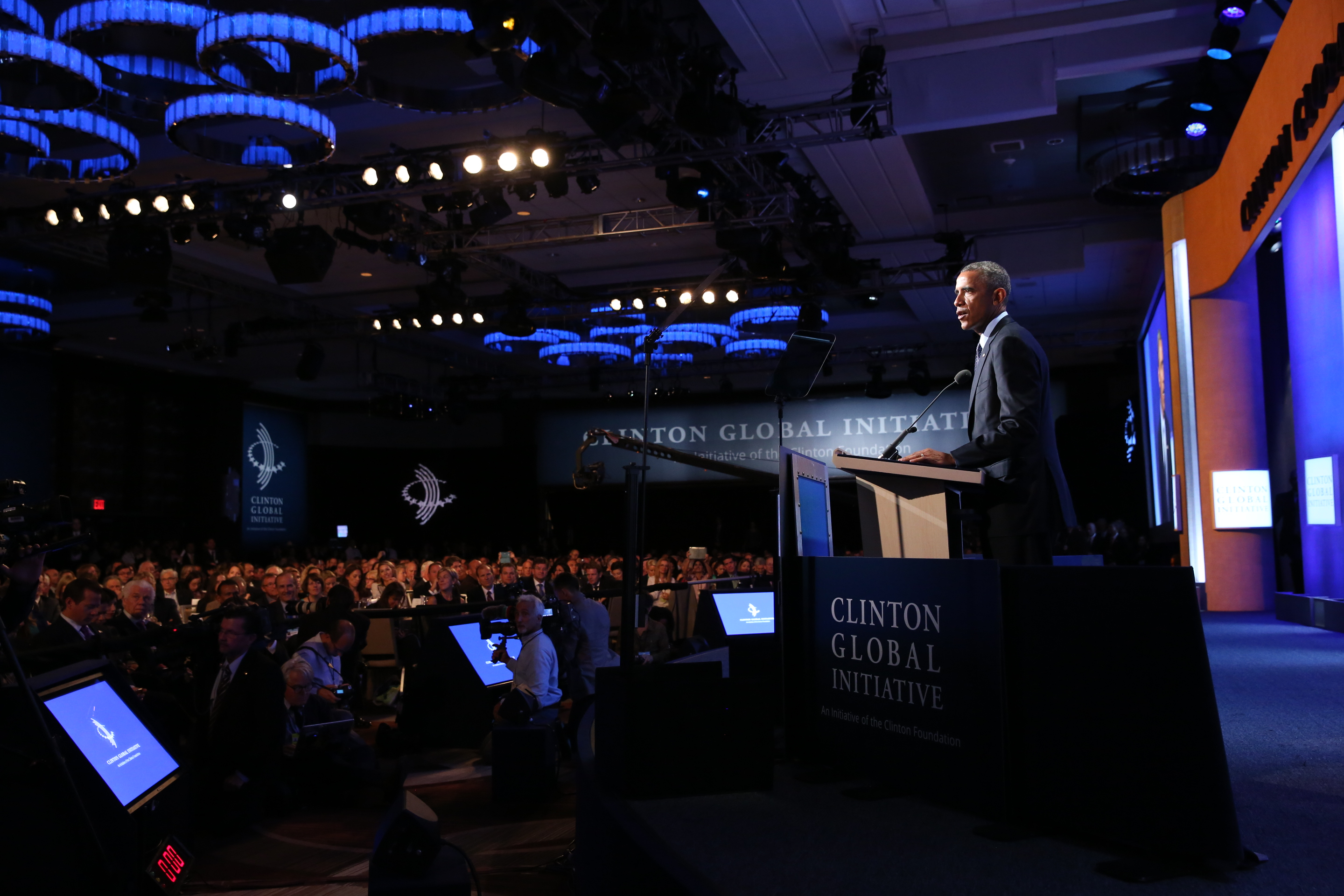 President Obama Delivers Remarks at the Clinton Global Initiative 2014