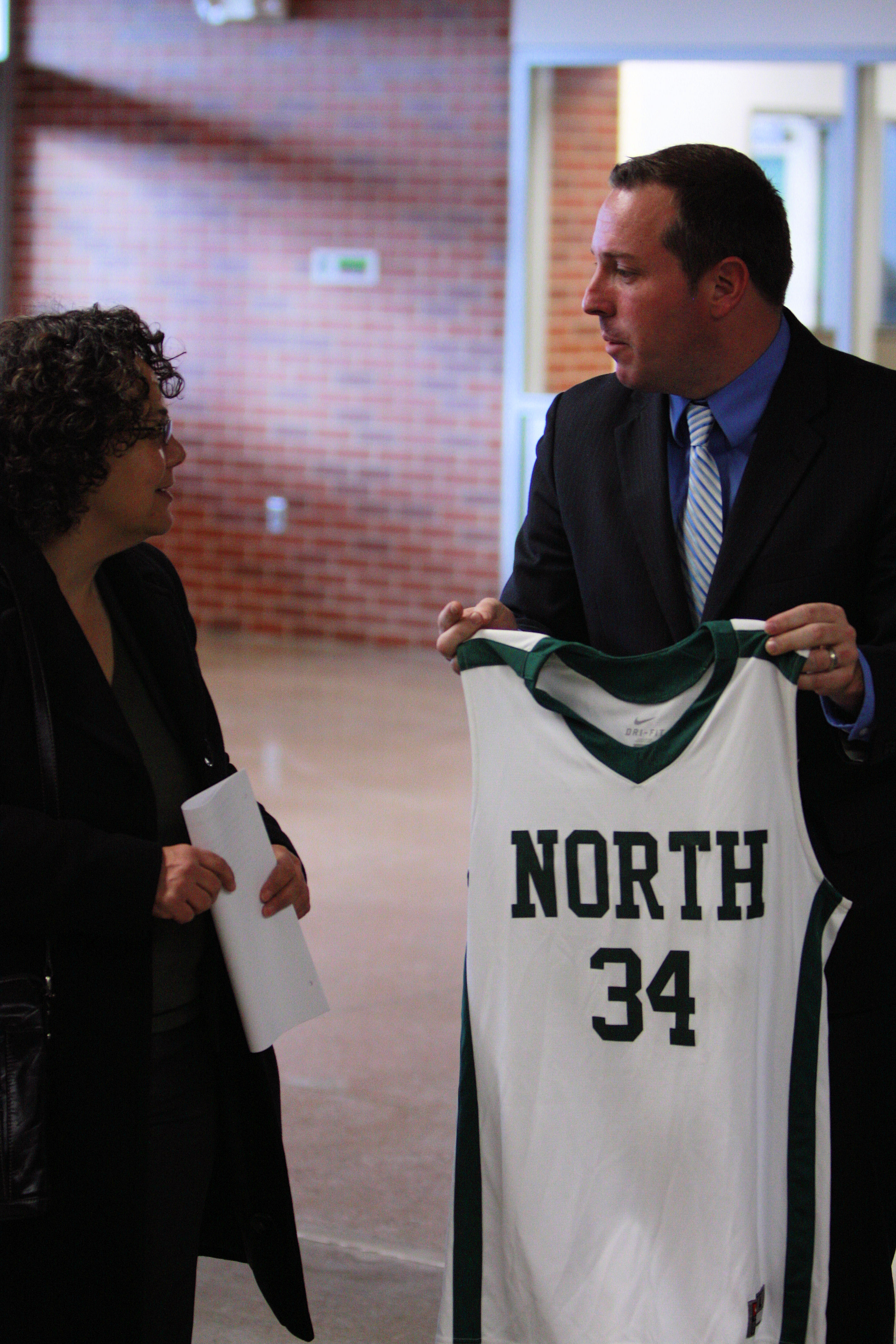 Chair Sutley at North High School in Des Moines, Iowa