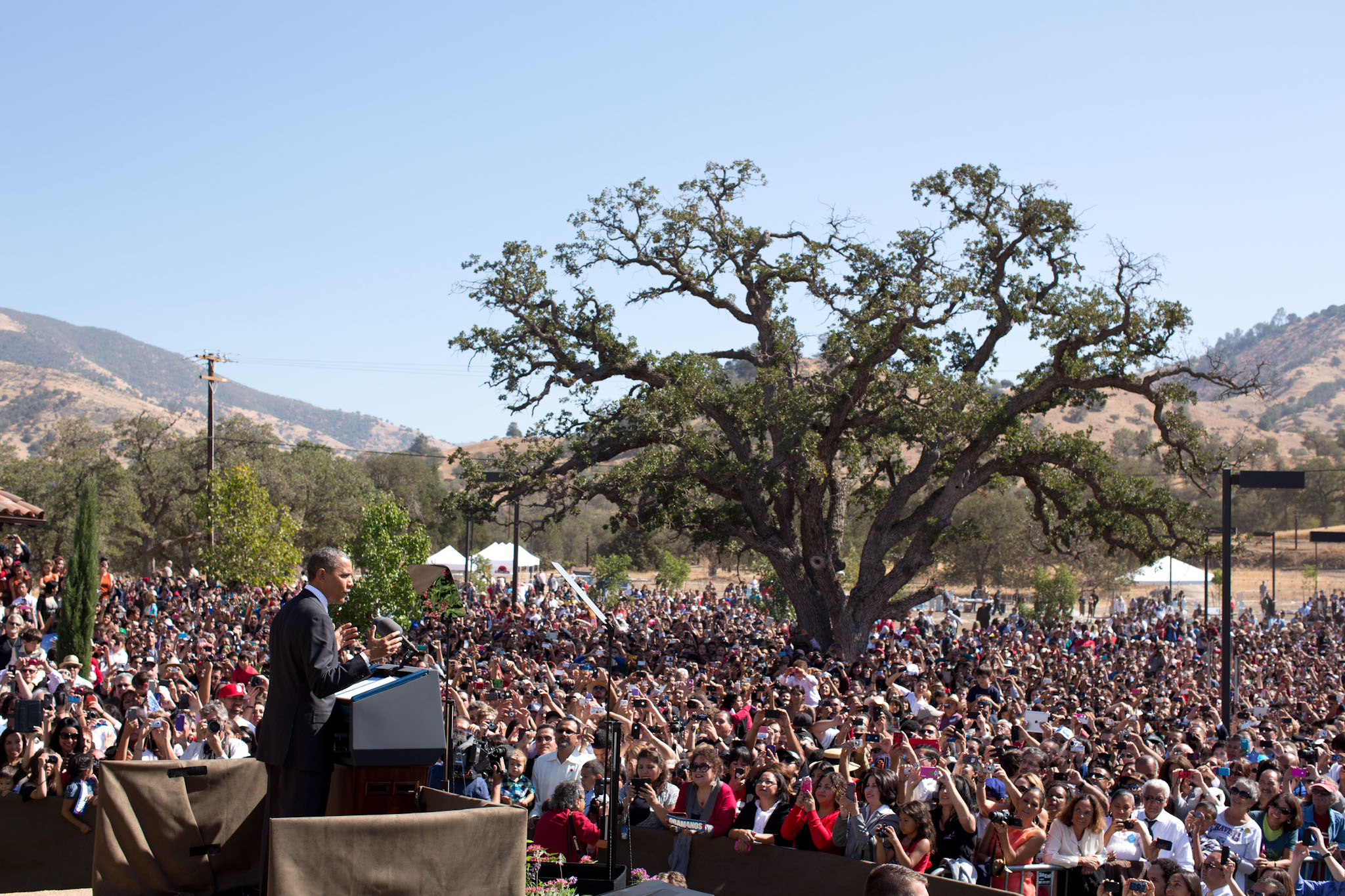 President Barack Obama at the dedication ceremony for the Cesar E. Chavez National Monument Oct 8, 2012