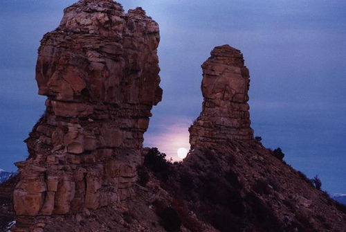 Chimney Rock at Moonrise