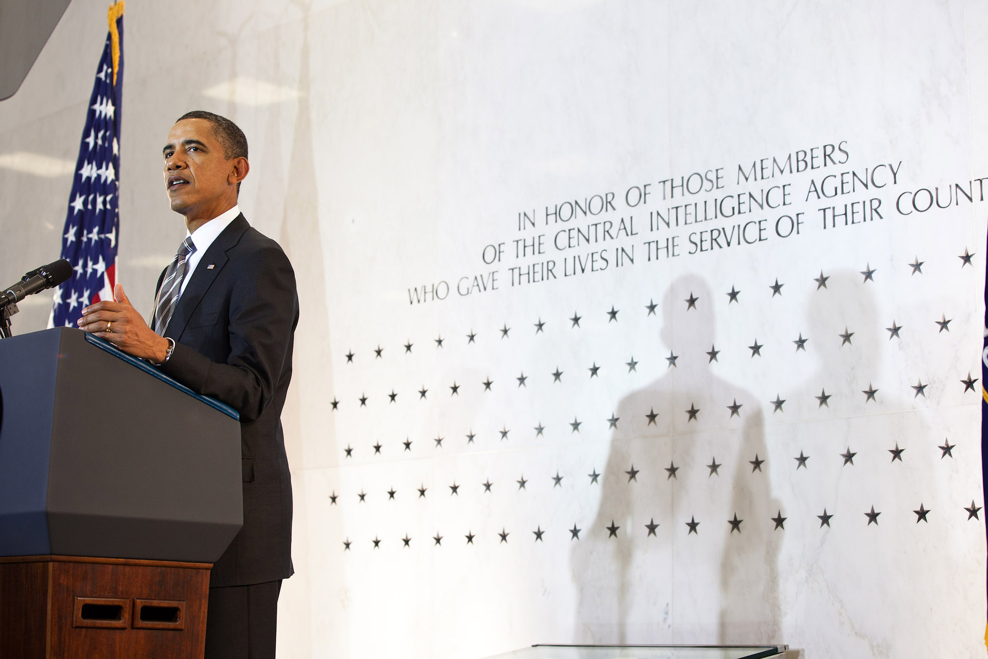 President Barack Obama Speaks to the Intelligence Community at Old CIA Headquarters in Langley, Va.