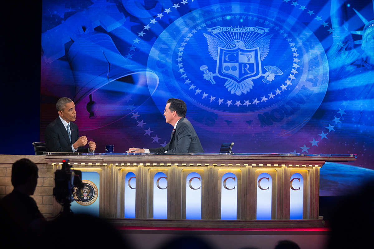 President Obama Talks with Stephen Colbert