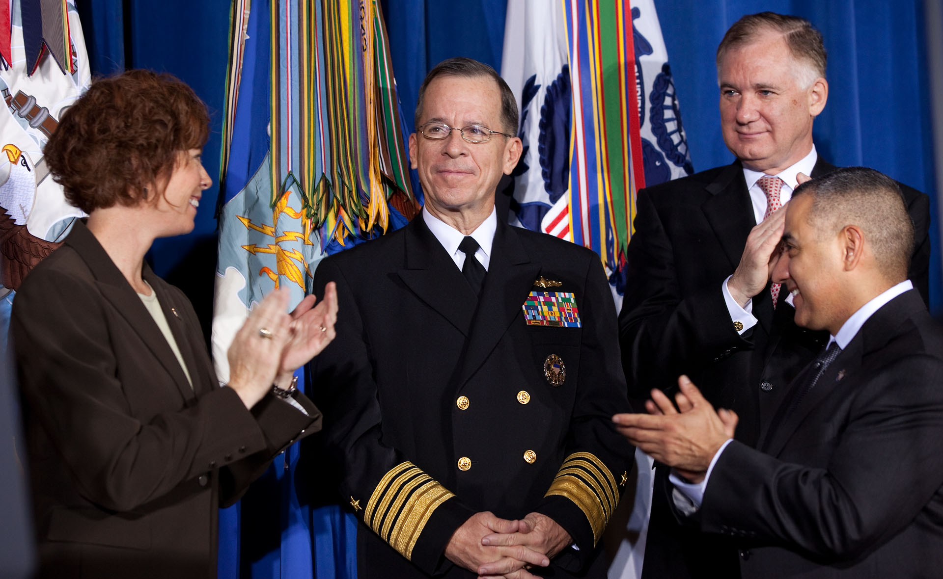 Chairman of the Joint Chiefs of Staff Admiral Mike Mullen at Signing of