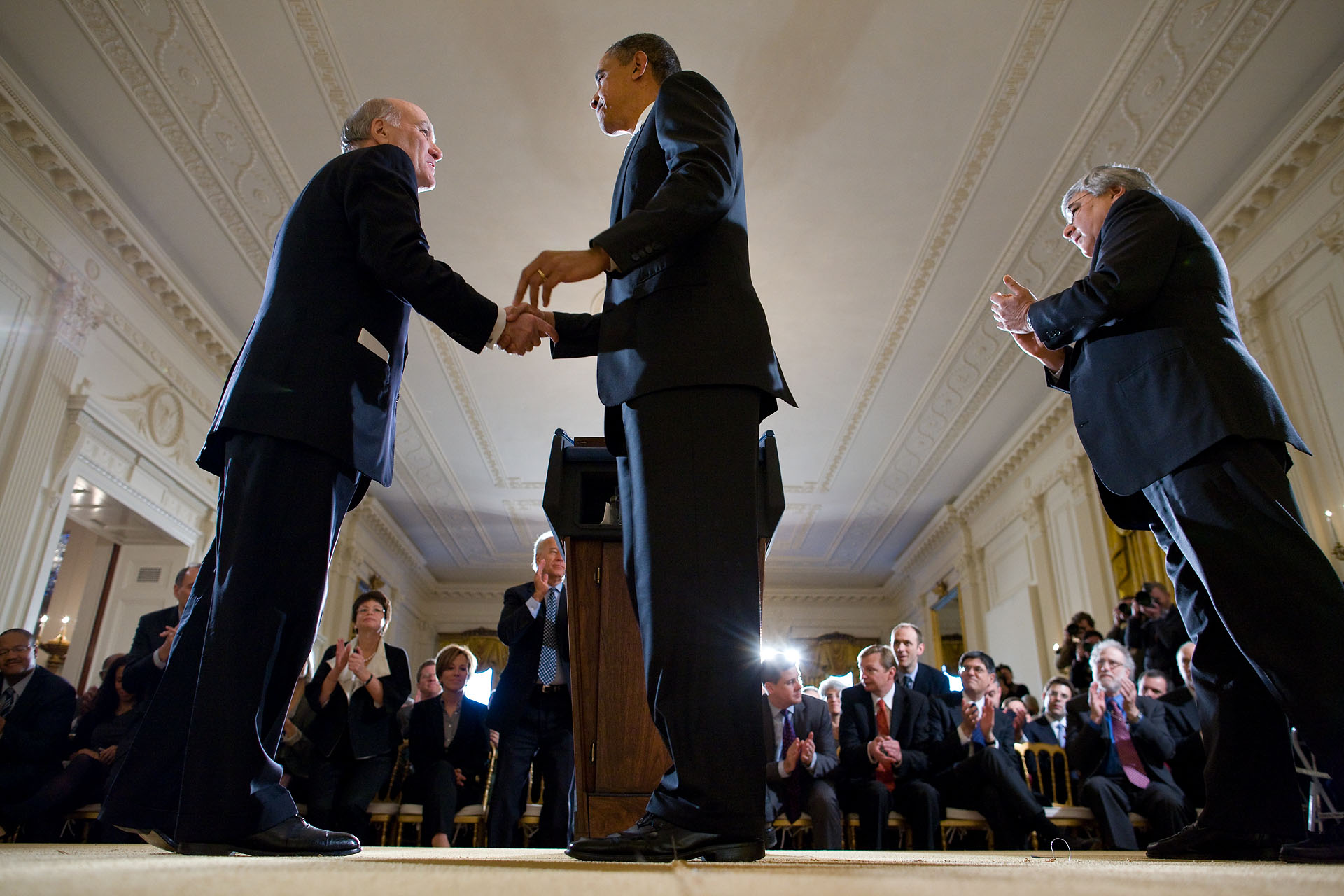 President Barack Obama Welcomes New White House Chief of Staff William Daley