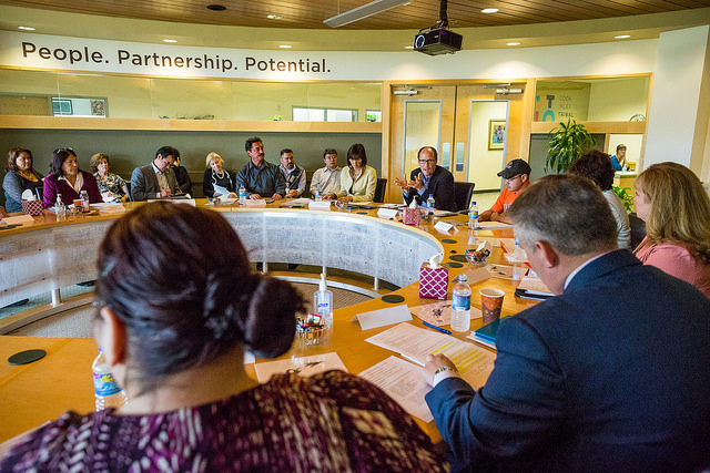 Secretary Perez participates in a roundtable discussion with Alaska Native leaders