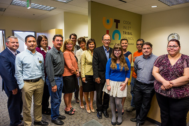 Secretary Perez with Alaska Native leaders at the Cook Inlet Tribal Council offices
