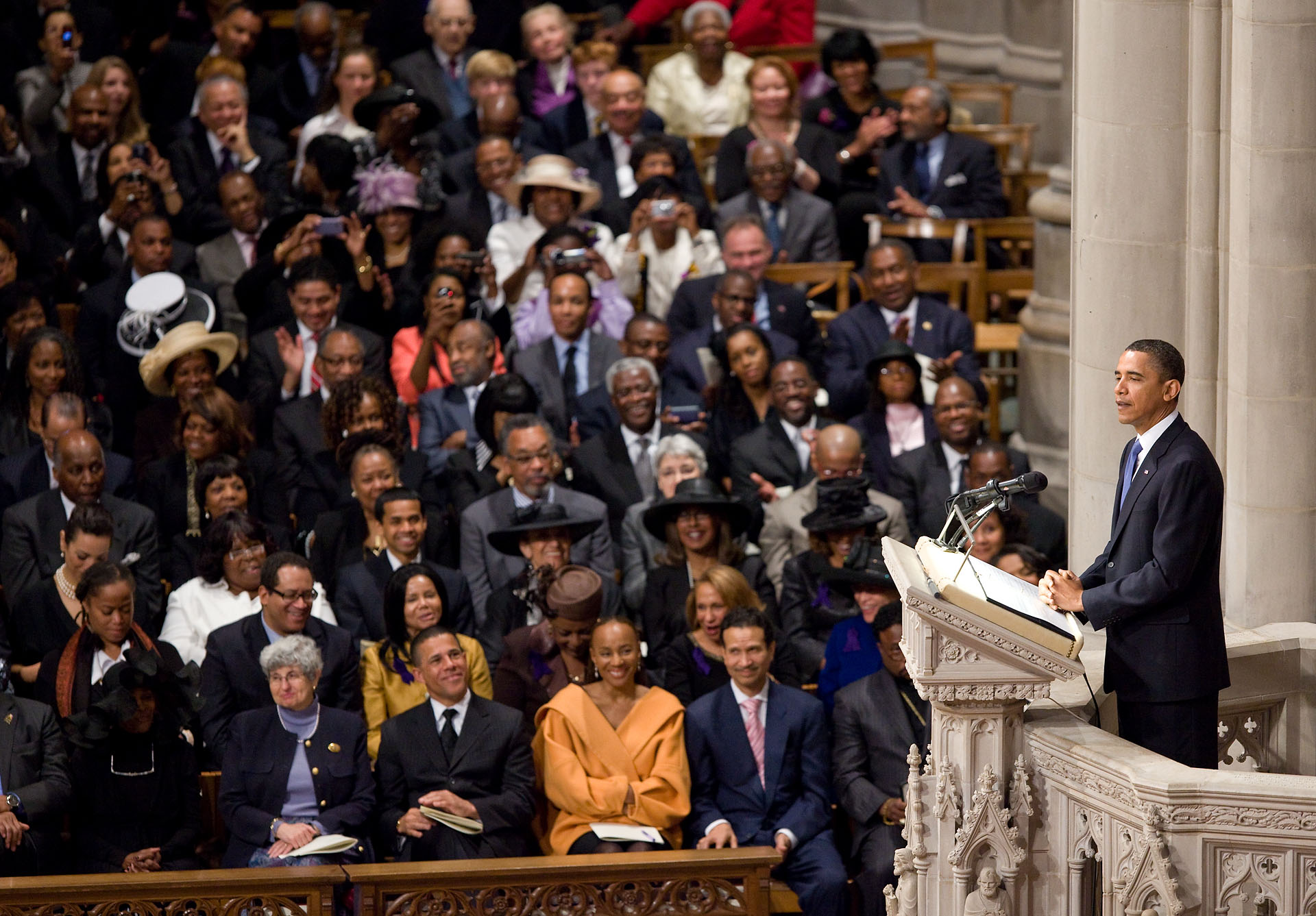 Delivering the Eulogy for Dorothy Height