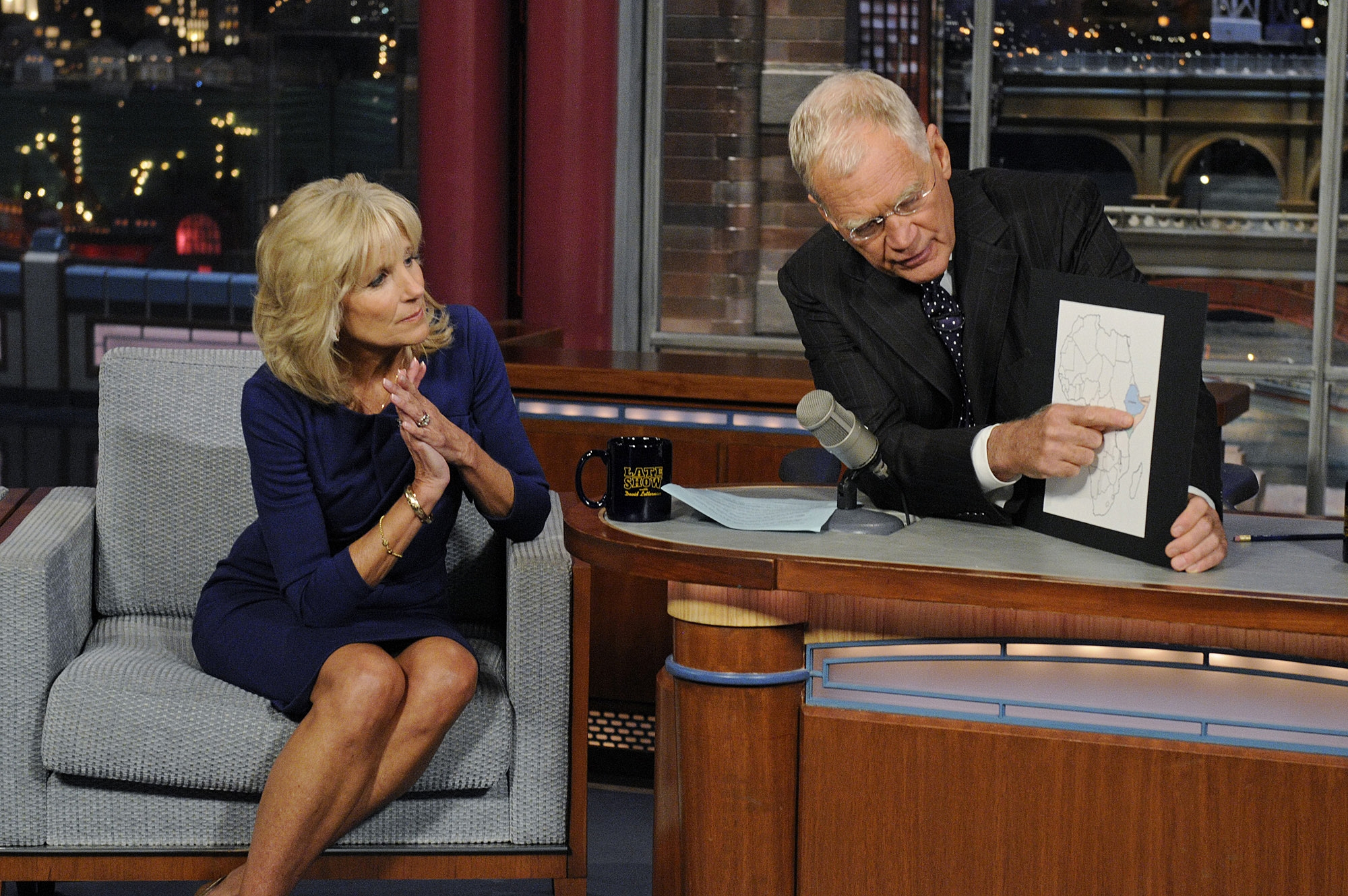 Dr. Jill Biden on the Late Show with David Letterman