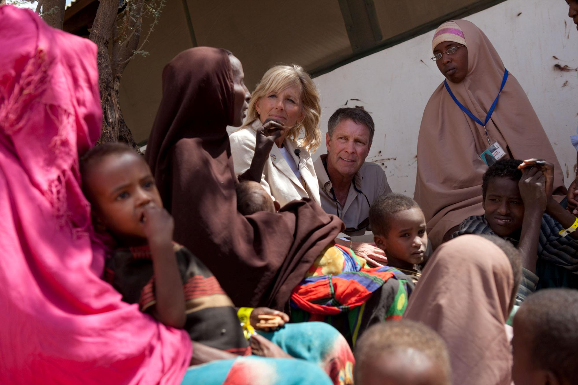Dr. Jill Biden and Senator Bill Frist Visit Dagahaley Refugee Camp in Kenya