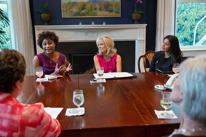 Dr. Jill Biden Helps Raise Breast Cancer Awareness