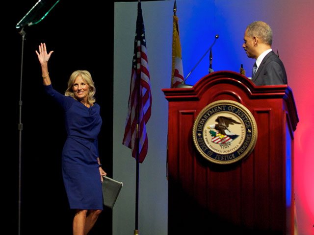 Dr. Jill Biden at Dept. of Justice and Dept. of Defense Partnership Event