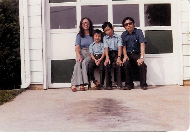 Dr. Nguyen is pictured with his mother, father and brother in 1976, shortly after their arrival to the United States.