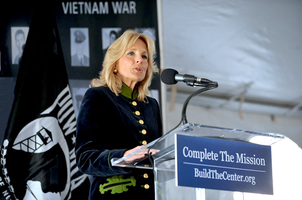 Dr. Biden at Ceremonial Groundbreaking