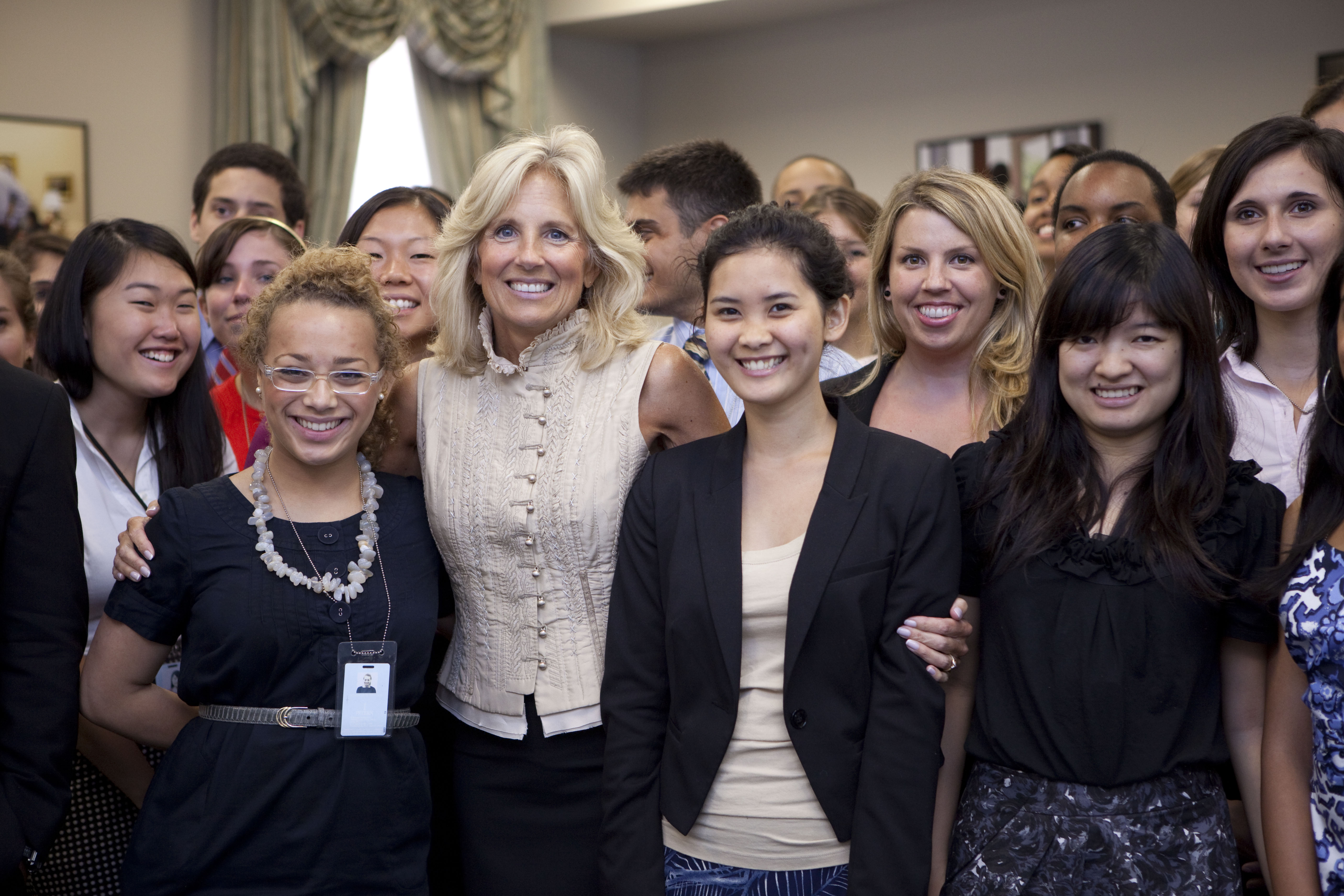 Dr. Biden with White House Interns