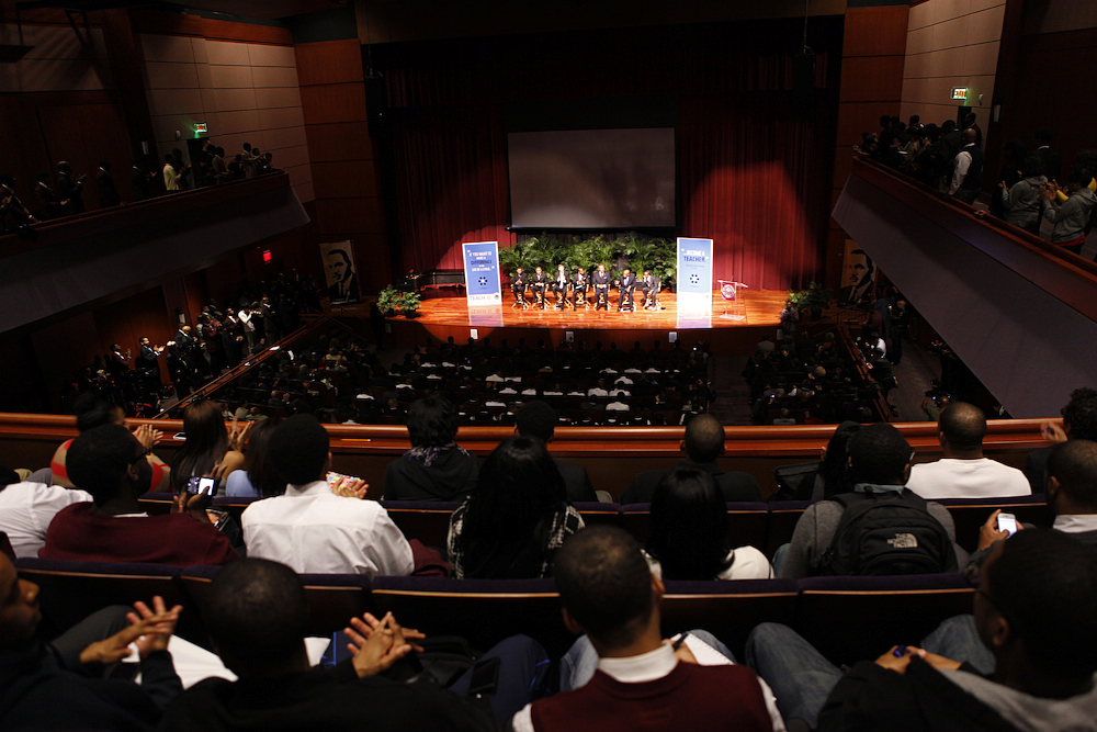 Education Secretary Arne Duncan at Morehouse College in Atlanta, Wide View