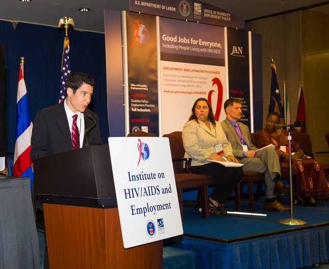 ODEP Chief of Staff Dylan Orr Speaking at the Labor Department's Institute on HIV/AIDS and Employment