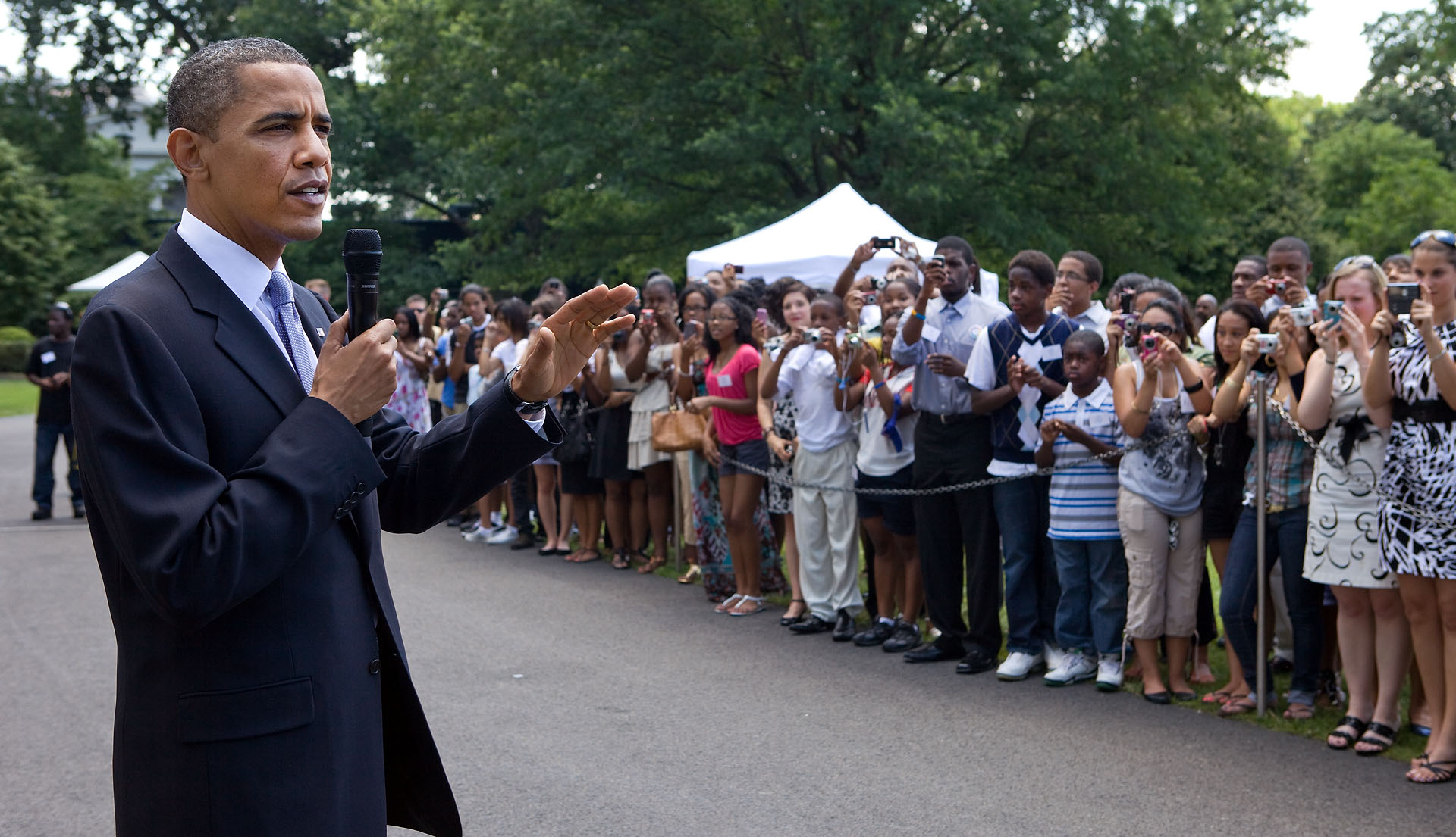 President Obama Speaks at Fatherood Barbecue