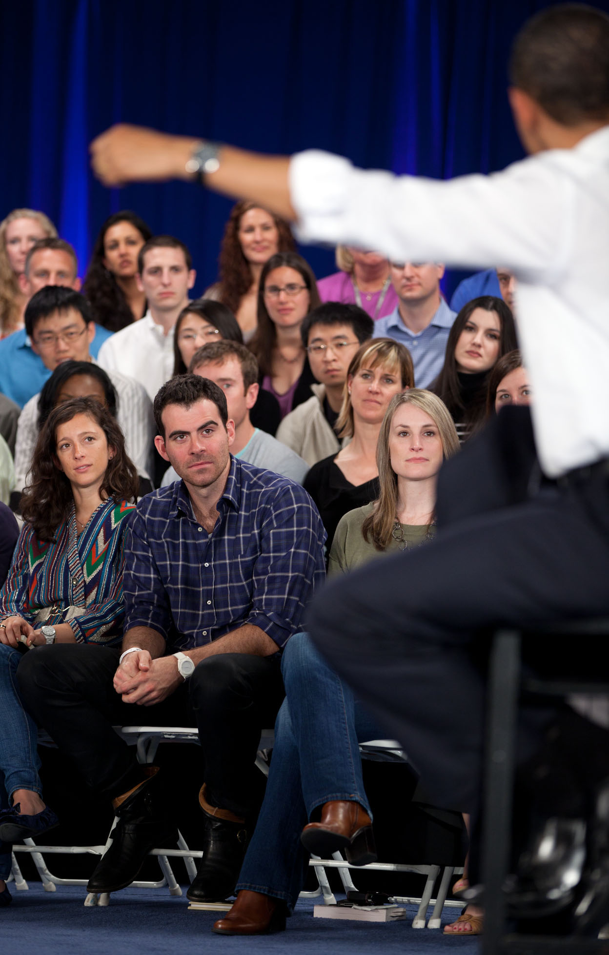 President Obama Answers Questions at Facebook Town Hall