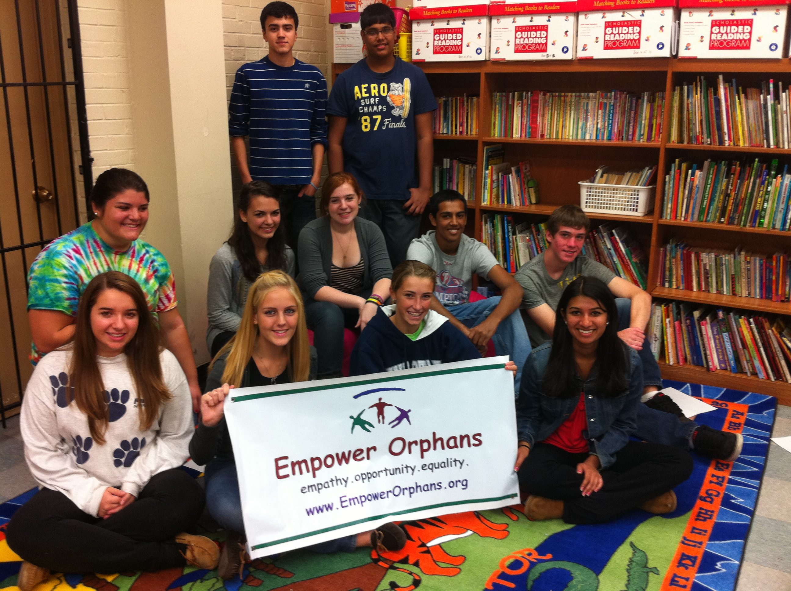 Neha Gupta and Members of Empowering Orphans volunteer
