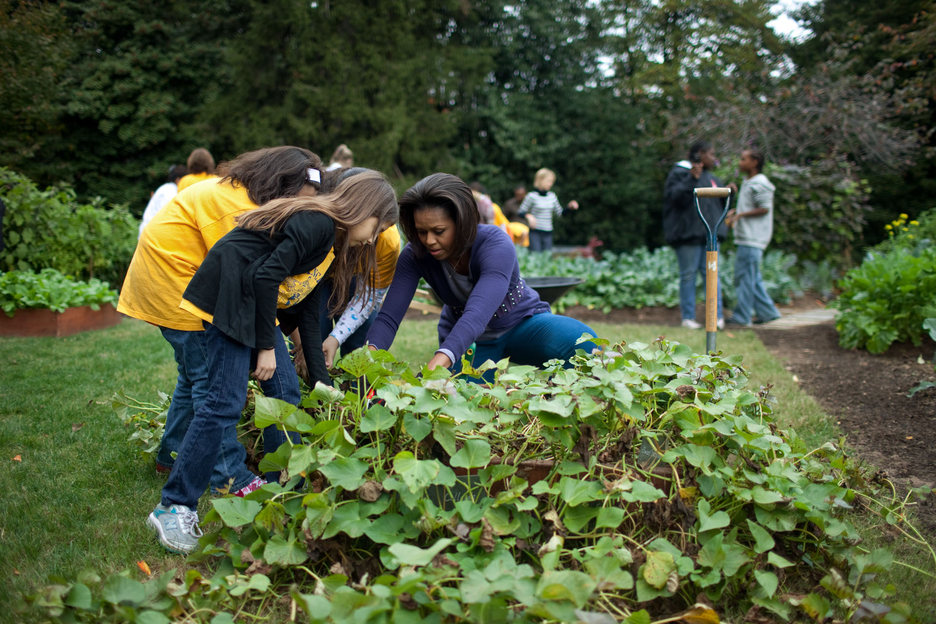 First Lady at the Kitchen Garden Fall Harvest