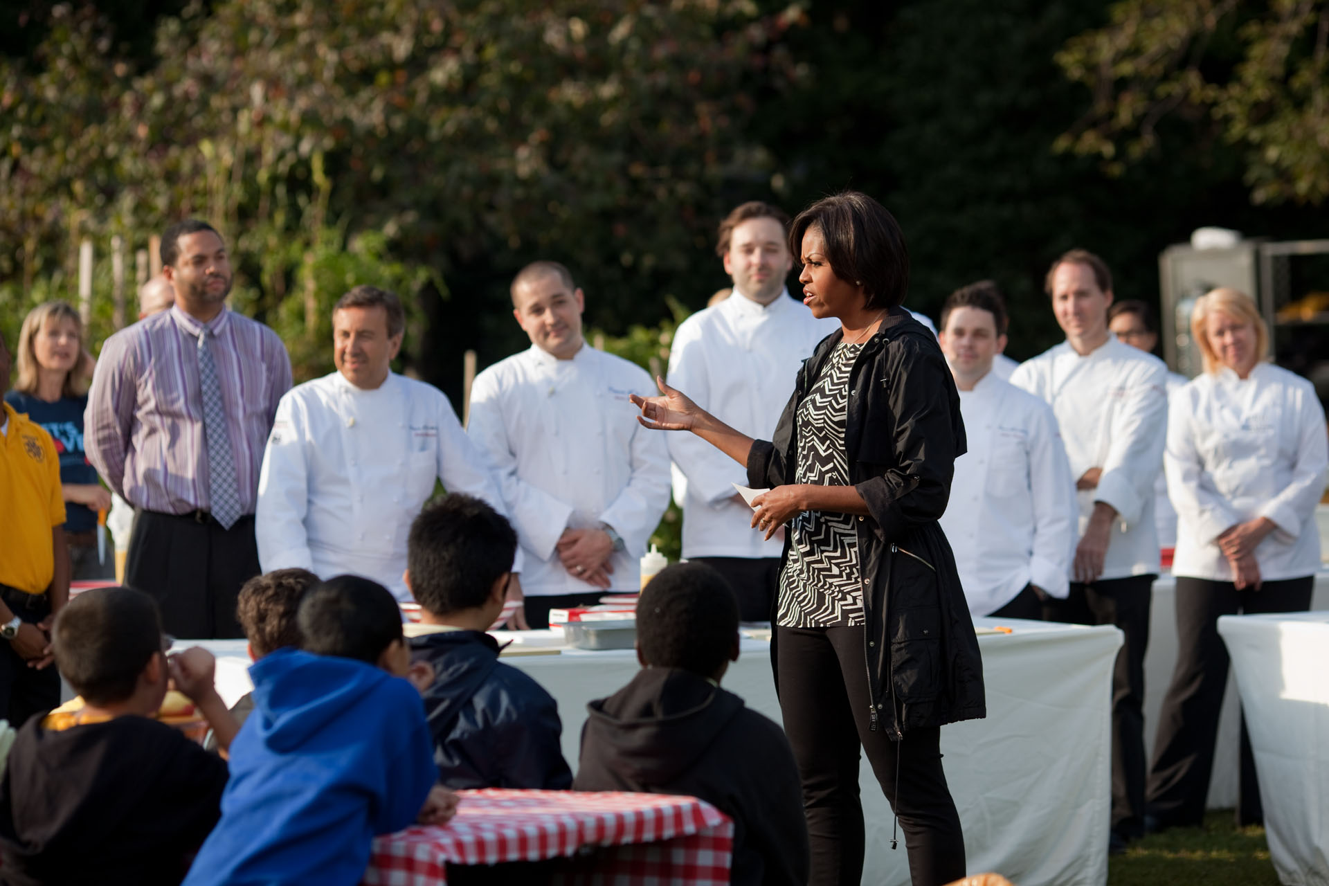 The First Lady Speaks During the Fall White House Garden Harvest
