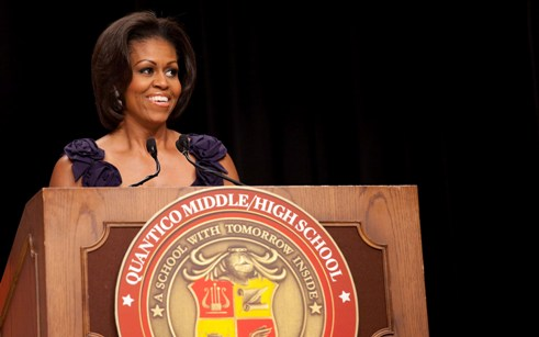 The First Lady at Quantico Middle/High Commencement Ceremony