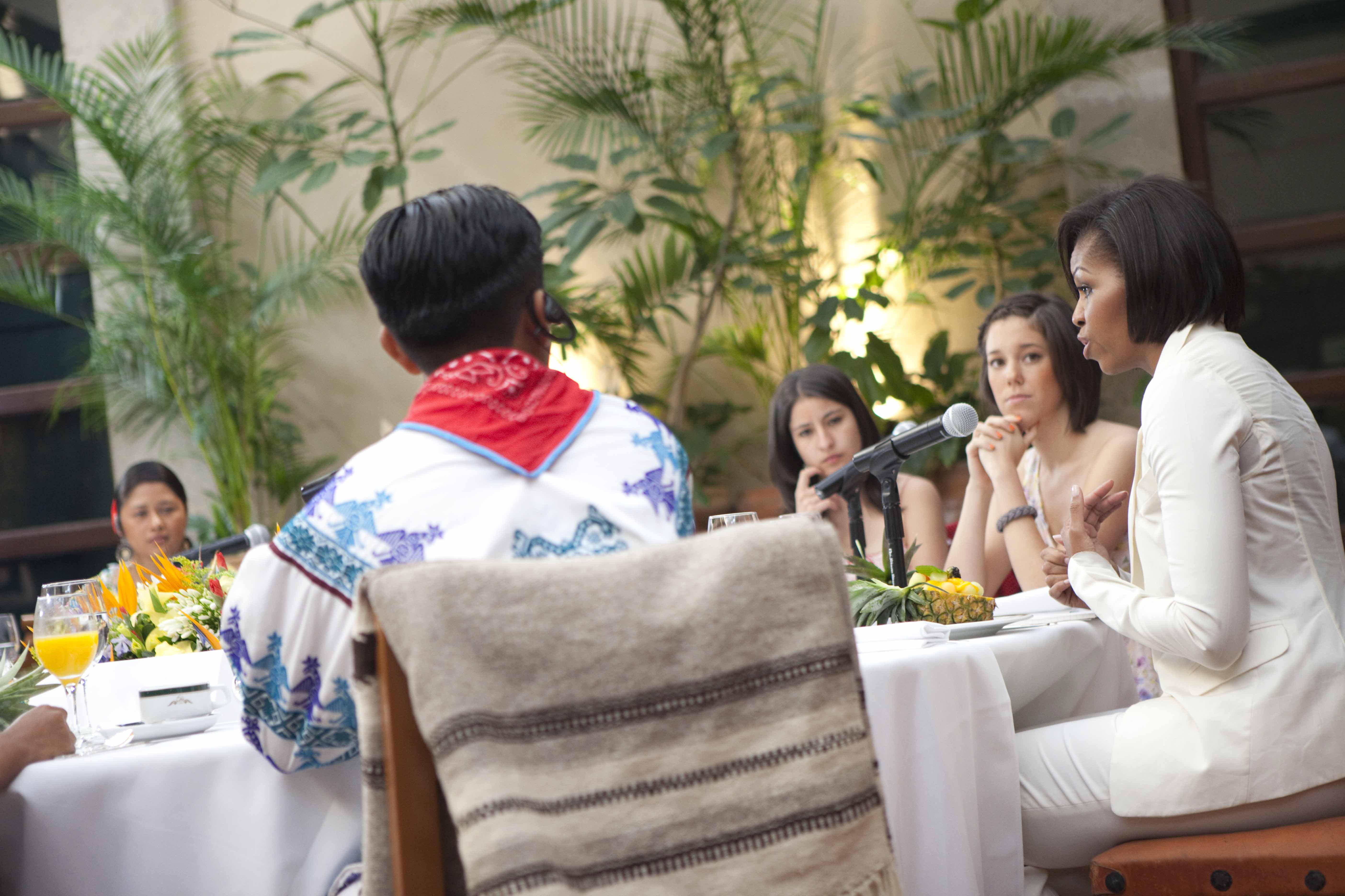 First Lady Hosts Roundtable in Mexico