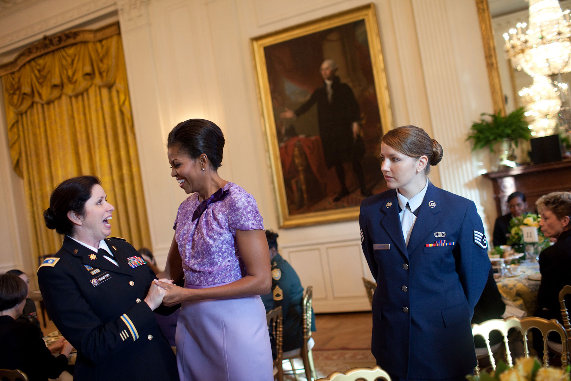 First Lady at the Military Tea