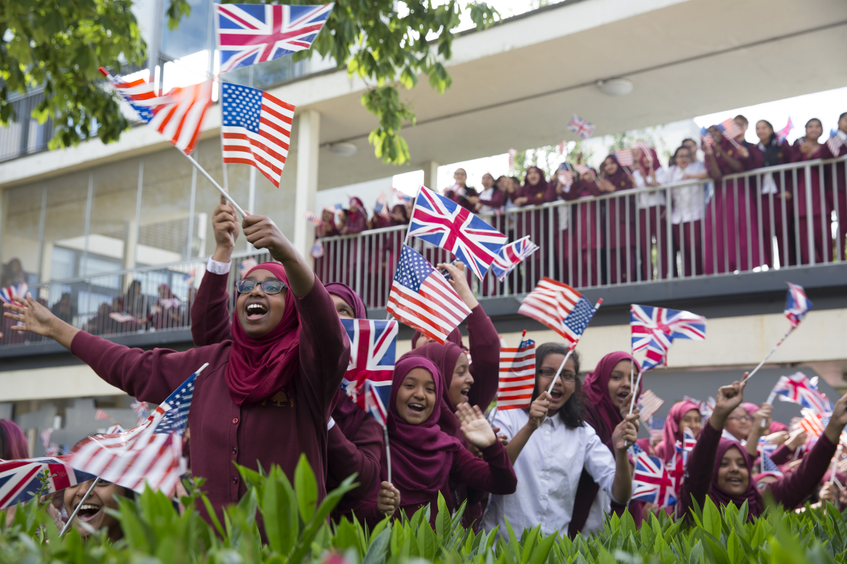 Mulberry Girls Welcome the First Lady