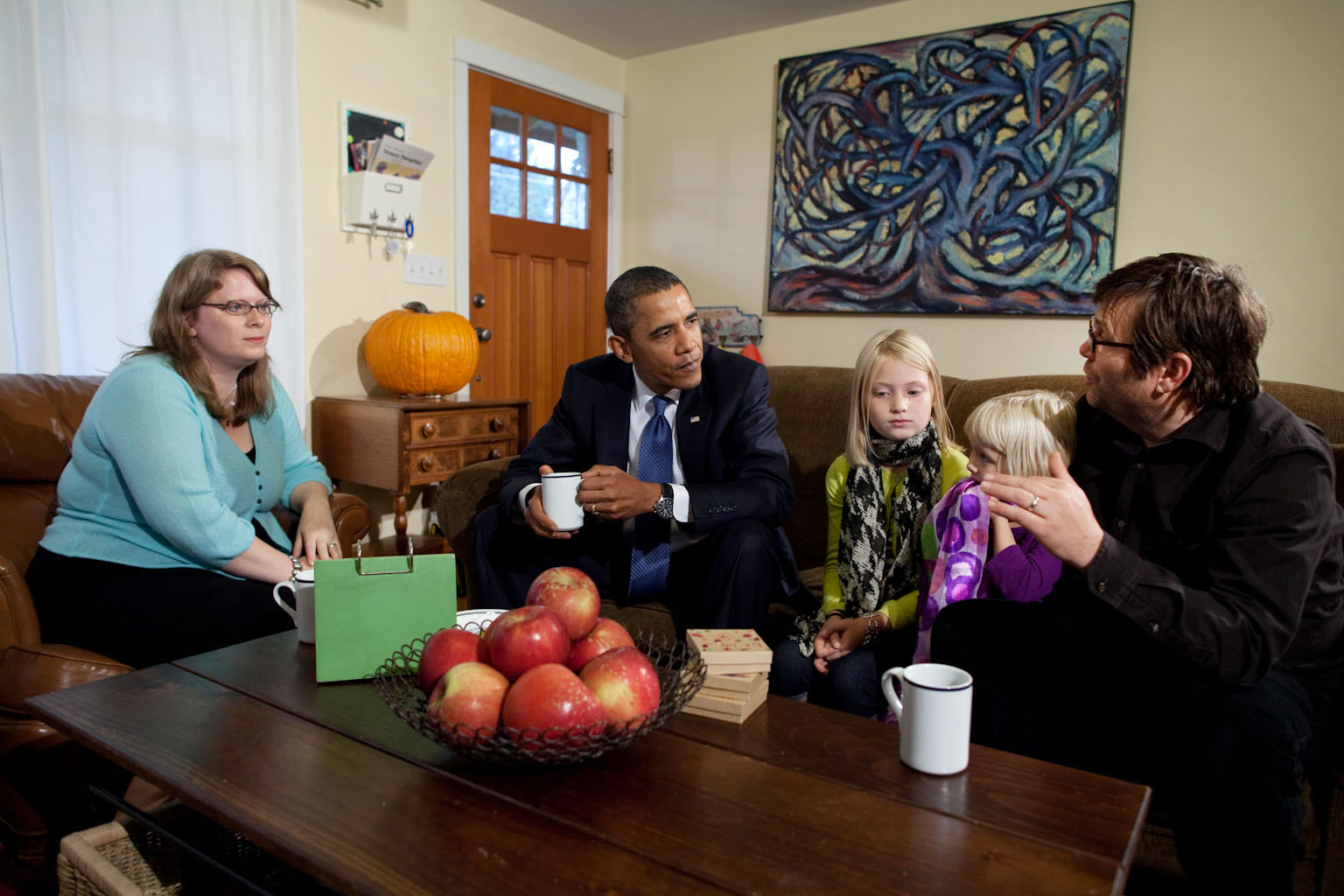 President Barack Obama Meets with the Foss Family in Seattle