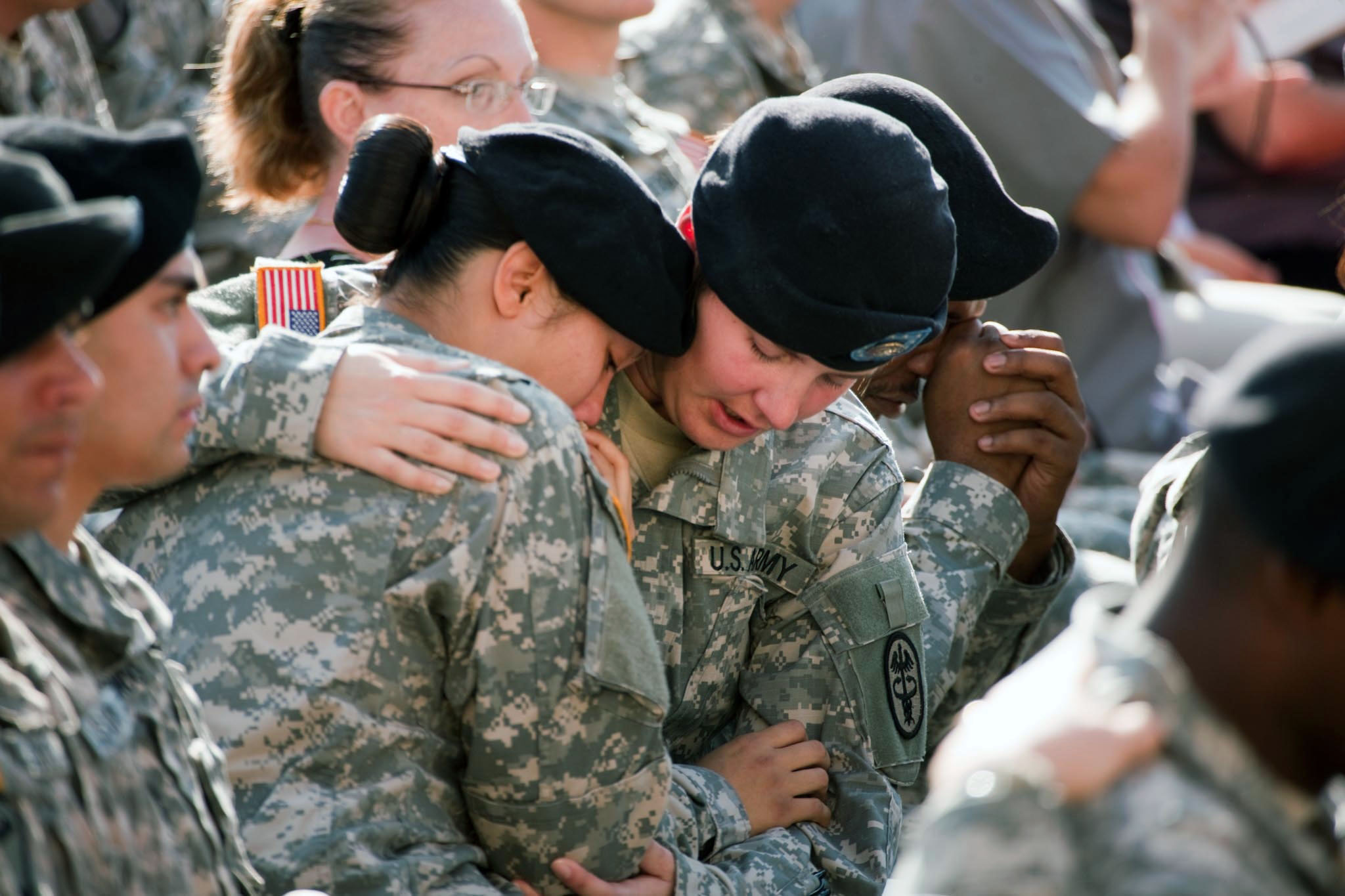 Fort Hood Soldiers Console Each Other