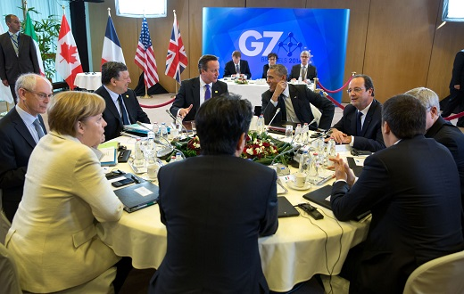 President Obama With Other G7 Summit Leaders