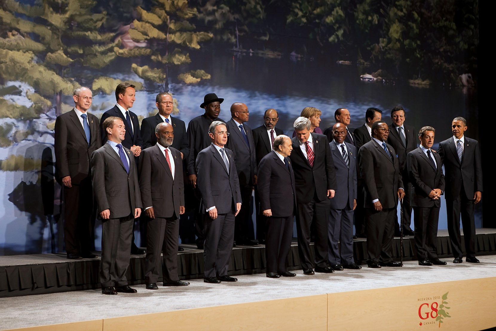 G8 Summit Group Photo in Canada
