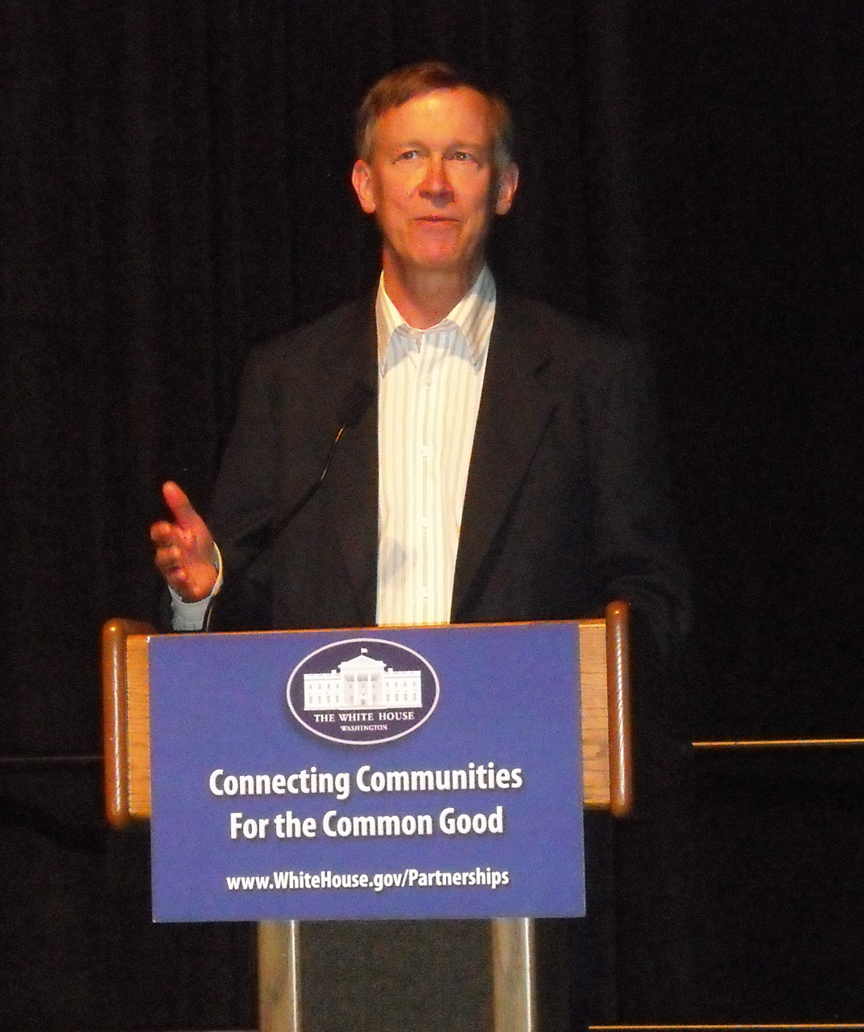 Governor John Hickenlooper at Connecting Communities for the Common Good