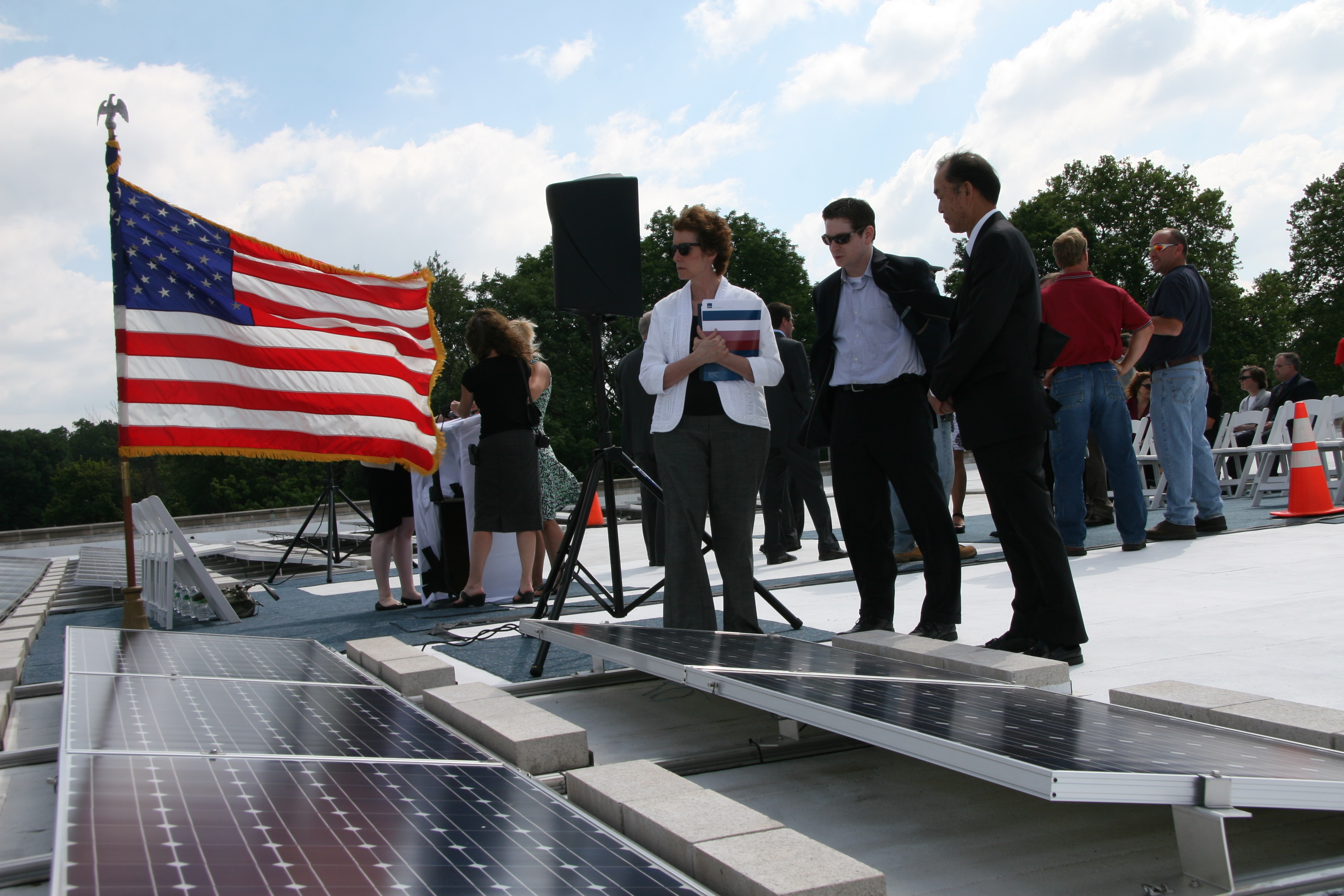 GSA Administrator Martha Johnson and Solar Panels at Philadelphia Veterans Affairs Regional Office and Information Center