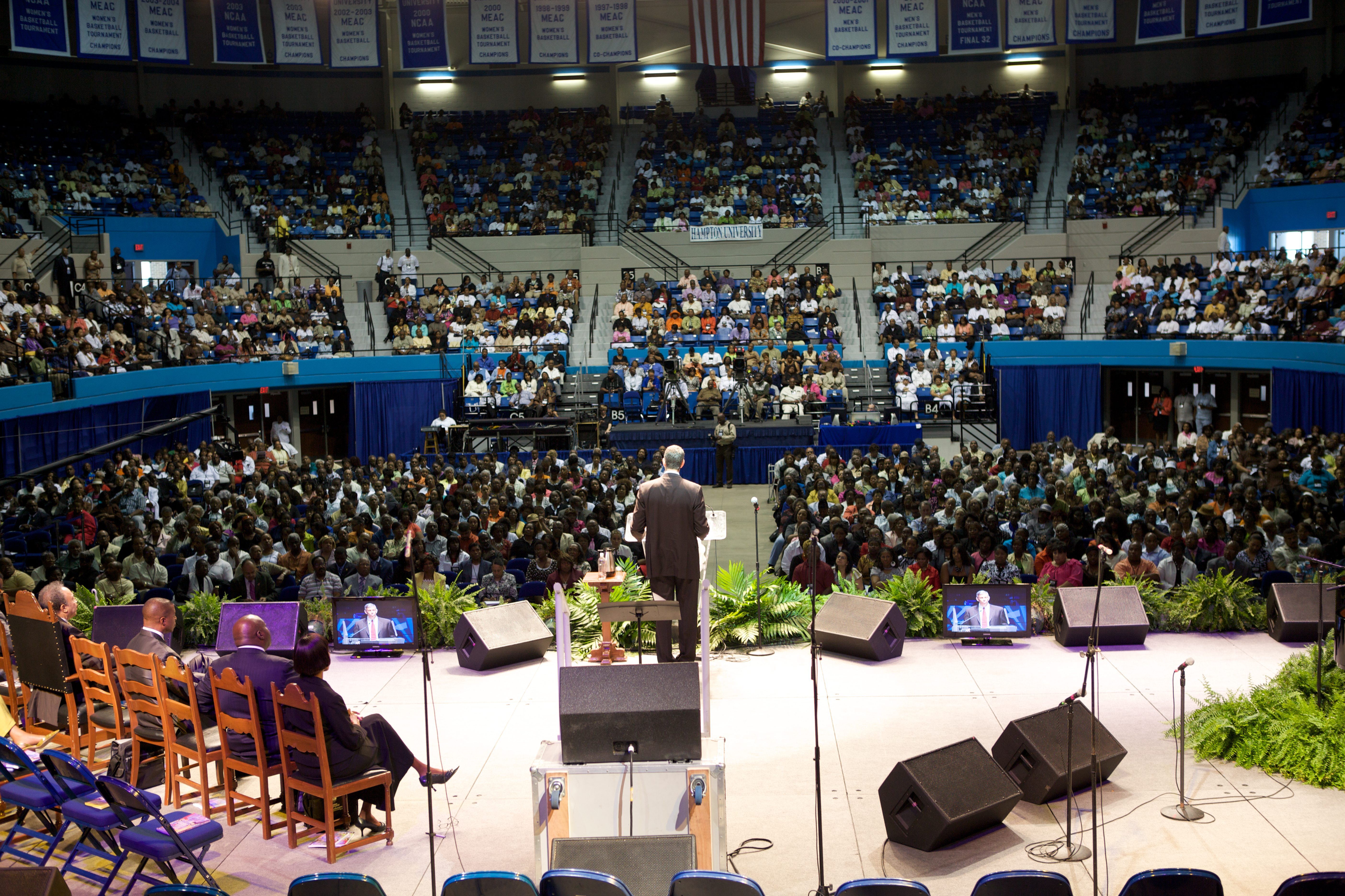Secretary Arne Duncan Speaks at the 96th Annual Minister's Conference at Hampton University
