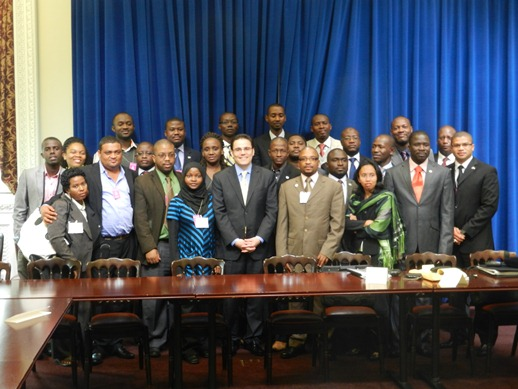 Senior Director for African Affairs Grant Harris meets with young African leaders