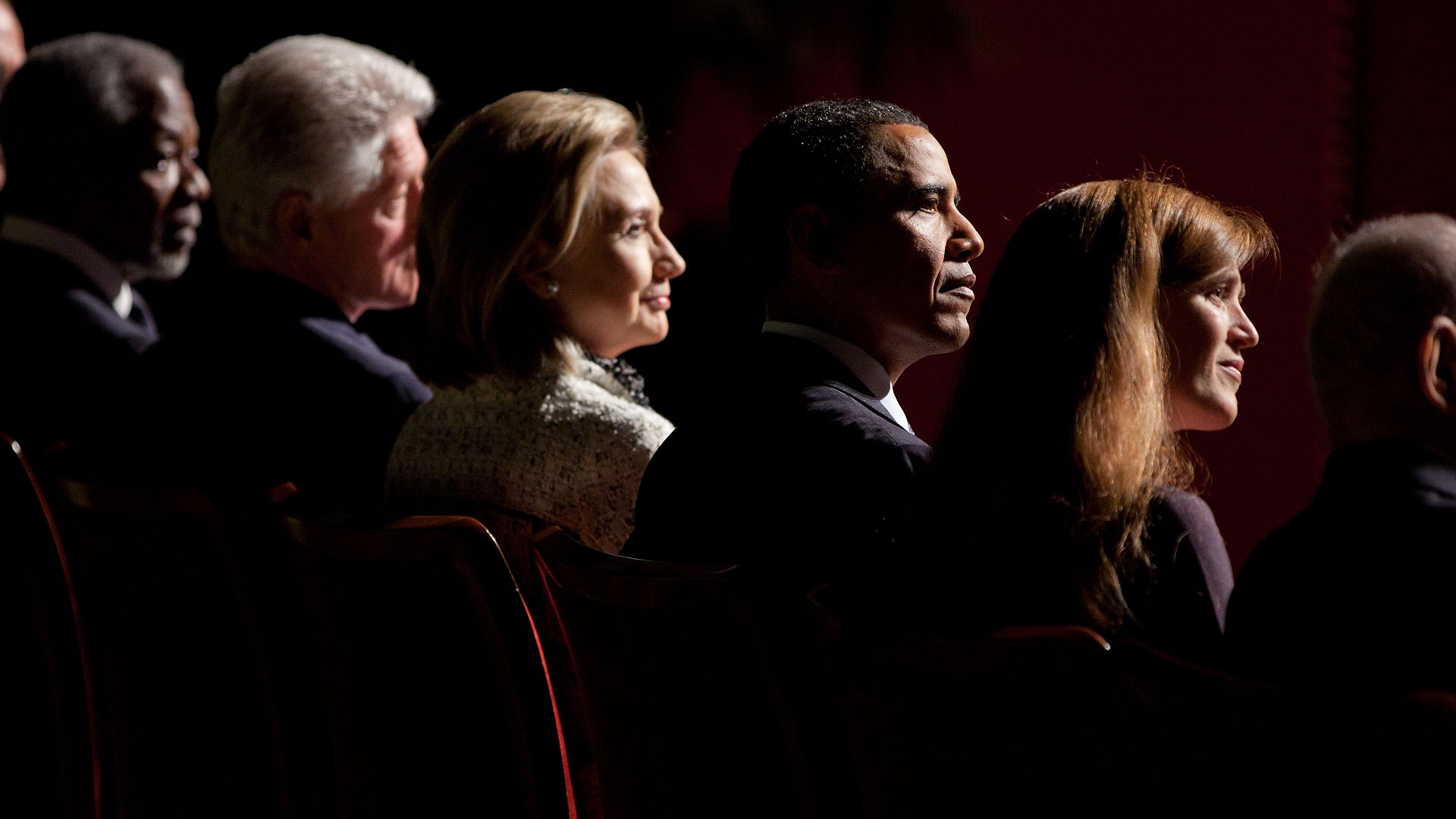 President Obama, Former President Clinton, Secretary Clinton and Samantha Power at Richard Holbrooke's Memorial