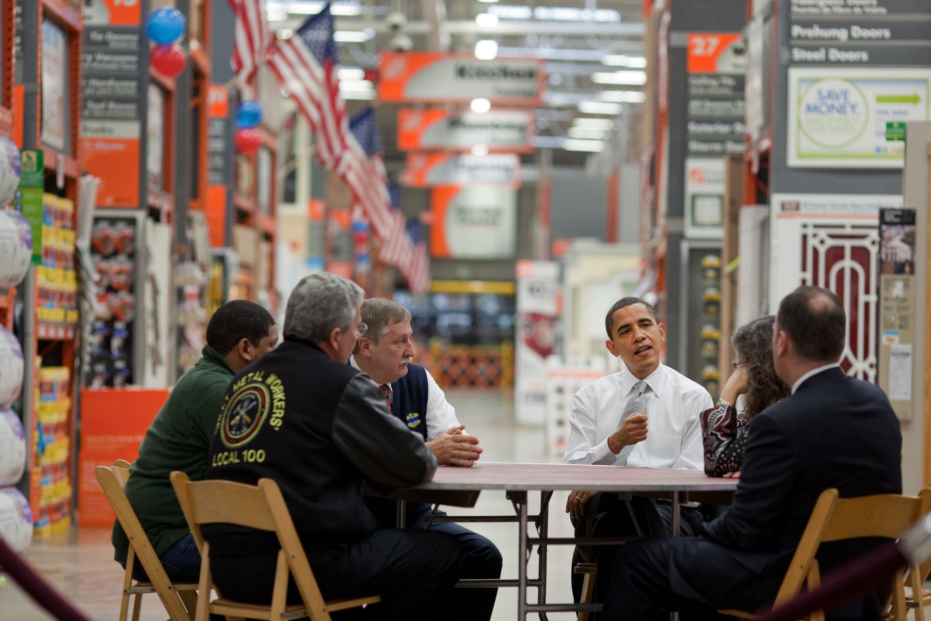 Meeting on Retrofitting at Home Depot