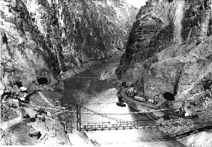 Hoover Dam Early Construction